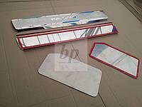 Защитные хром накладки на пороги Mitsubishi pajero wagon IV (митсубиси паджеро вагон 4) 2005г+