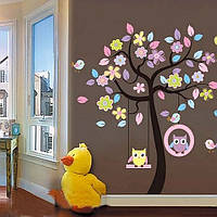 Виниловые наклейки интерьерные наклейки на стены в детскую комнату Совушки