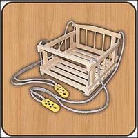 Детская качель деревянная подвесная (Качеля буковая) Maximus