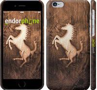 """Чехол на iPhone 6 Логотип Феррари на коже """"133c-45"""""""