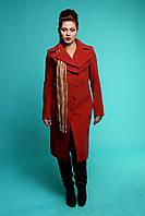 Красное кашемировое пальто осень 2015
