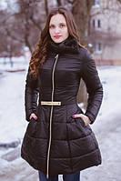 Модное стеганное пальто с пышной юбкой, разные цвета