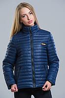 Молодежная стеганная демисезонная куртка (темно-синий), разные цвета