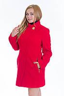 Красное кашемировое пальто-трапеция, разные цвета
