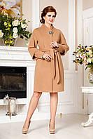 Кашемировое демисезонное пальто больших размеров (мокко), разные цвета