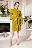 Кашемировое демисезонное пальто больших размеров (горчица), разные цвета