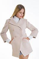 Женское бежевое кашемировое пальто-фрак, разные цвета