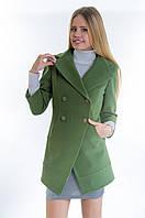 Женское зеленое кашемировое пальто-фрак, разные цвета
