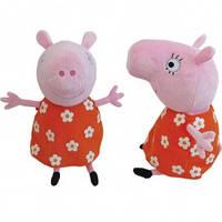Свинка пеппа мягкая игрушка мама свинка 30 см