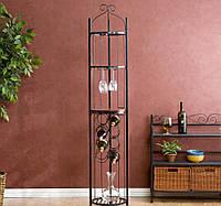Подставка-этажерка для вина, напольная -116.