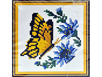 """Набор для творчества со стразами """"Бабочка с синими цветами"""" Размер: 23*21см Код 198278"""