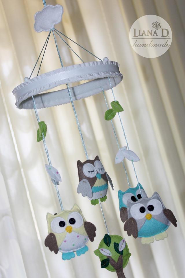 Мобили на кроватку своими руками для новорожденных