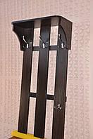 Вешалка Комфорт фабричная ЛДСП - настенная вешалка с полкой для шапок в прихожую 60