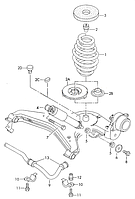 Болт M12x1.5x80 VAG N10170804