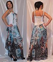 Летнее женское платье длинное Медини 40-44 размер