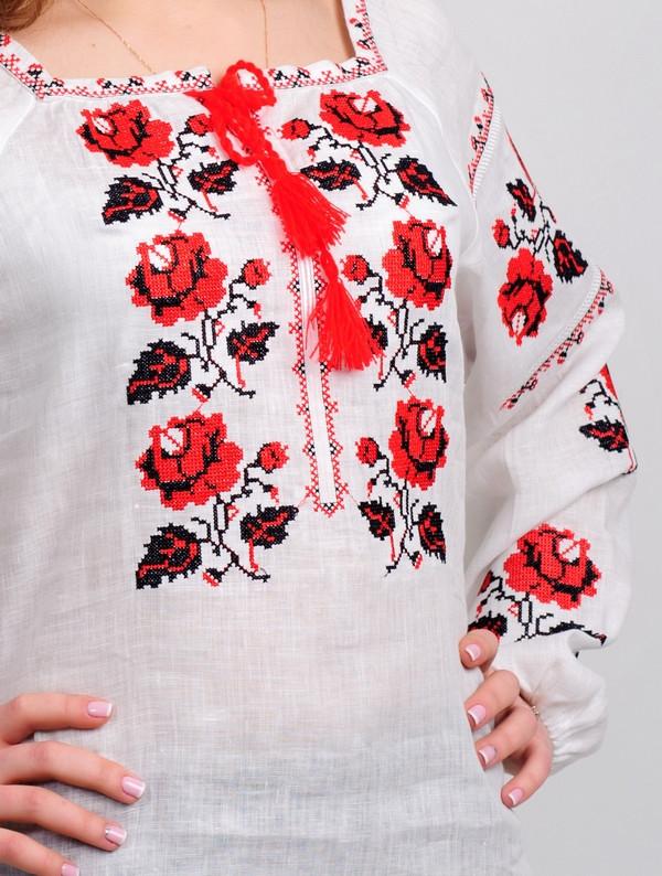 Вышиванка с розами