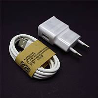 Зарядное устройство Samsung galaxy S, 2Ax1USB white с кабелем