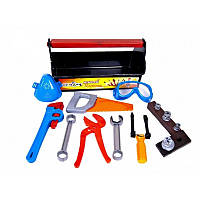 """Детский набор инструментов в чемодане """"Юный плотник"""" Kinder Way, 21 деталь"""