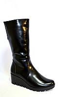 Ботинки кожаные женские демисезонные на невысокой платформе., фото 1