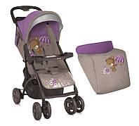 Детская прогулочная коляска  Bertoni Smarty Beige&Violet Bear