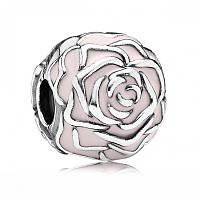 Клипса нежные розы из серебра 925 пробы пандора (pandora)