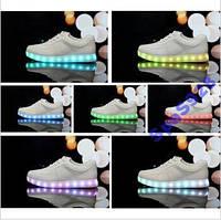Белые! LED кроссовки! Режим-7 цветов! Зарядка от стандартного USB, LED-светодиоды работают на протяжении 10 ч!