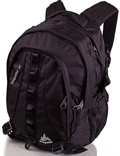 Мужской практичный рюкзак, городской  33 л. Onepolar W1002-black черный