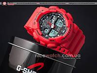 Часы мужские Casio G-Shock GA-100 Red красные