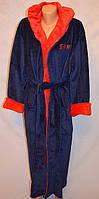 Модный  мужской  халат с поясом