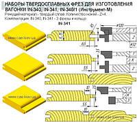 Набор регулируемых фрез для обшивочной доски (вагонка) на четырехстороннем станке.