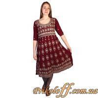 Восточное платье, бордовое