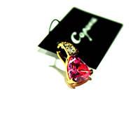 Кулон с нежно-розовым камнем