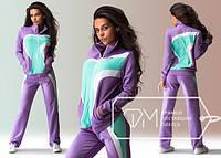 Сиреневый женский спортивный костюм супер качество