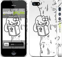 "Чехол на iPhone 5 Кот Саймона. На дереве ""651c-18"""