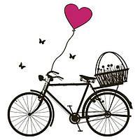 Виниловая Наклейка Glozis Bicycle