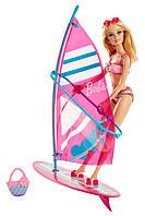 Кукла Барби и Виндсерфер из серии  Активный отдых (Barbie On-The-Go Beach Doll and Windsurfer Set)