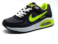 Кроссовки Nike Air Max 90,унисекс, пресскожа, темно-серые, фото 1