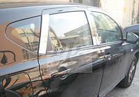 Хром накладки на дверные стойки Nissan qashqai (ниссан кашкай) 2007-2014