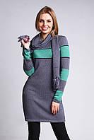 Стильная женская туника с шарфом, фото 1