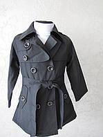 Плащ-пальто для девочек на флисовой подкладке