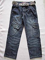 Джинсы с накладными карманами для мальчиков+ ремень