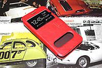 Кожаный чехол книжка для Meizu MX3 красный