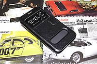 Кожаный чехол книжка для Meizu MX3 чёрный