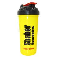 Шейкер для спортивного питания FI-4444 (TS1314) (пластик, 700мл, желтый-черный)
