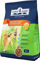 Корм сухой Клуб 4 лапы для средних и больших пород собак 3 кг
