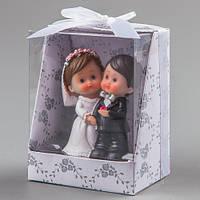 """Фигурка на свадебный торт """"Жених и невеста"""" 8 см"""