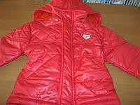 Куртка теплая на синтепоне для девочек 9-36