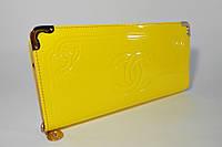 Клатч лаковый женский желтый Сhanel 840-1