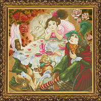 """Набор для вышивания крестиком с фоновым рисунком """"Чайная церемония"""""""