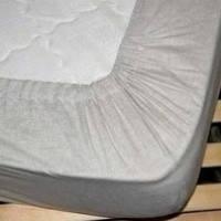 Детская льняная простыня на резинке 60х120 для кроватки